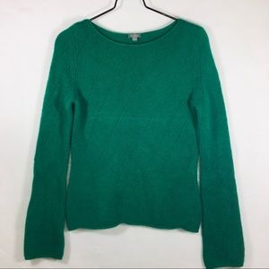 Ann Taylor Green Cashmere Sweater